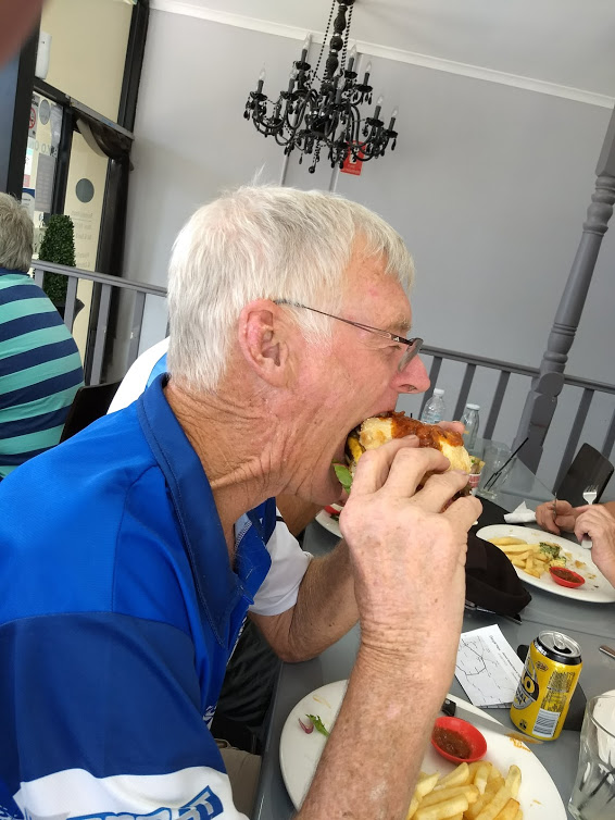 Ron Brooks enjoying lunch